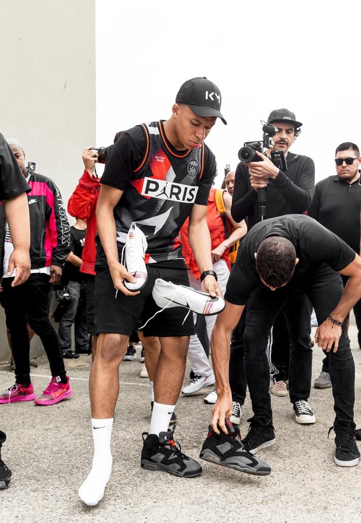 Kylian Mbappé Debuts PSG x Jordan