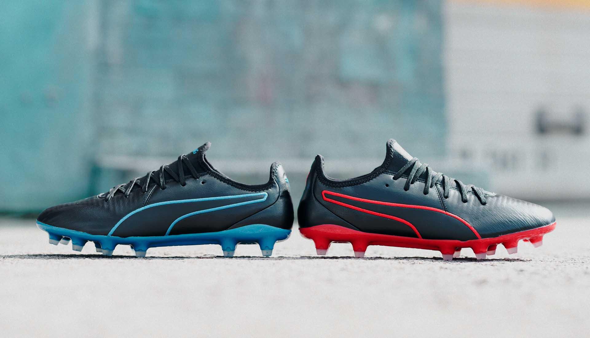 grigio Colla Eccentrico  PUMA Launch Two Exclusive King Pro Colourways - SoccerBible